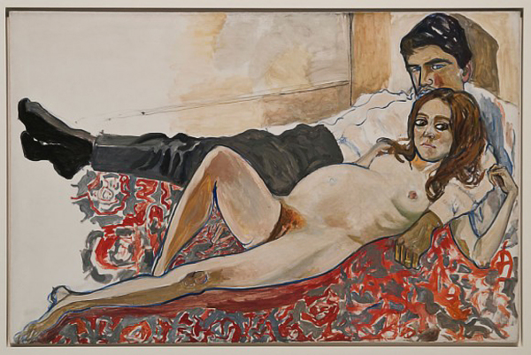 Alice-Neel-Pregnant-Julie-and-Algis-1967-580x388